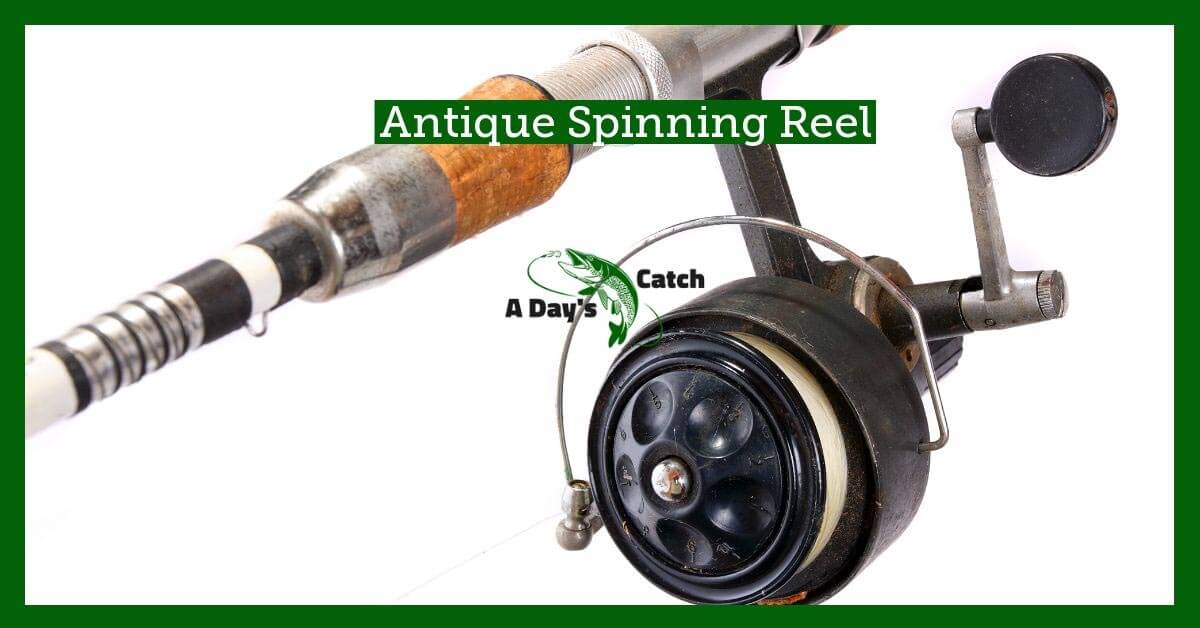 antique spinning fishing reel