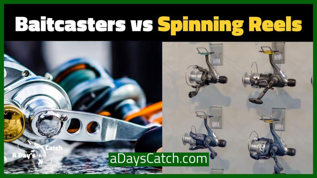 baitcasters vs. spinning reels